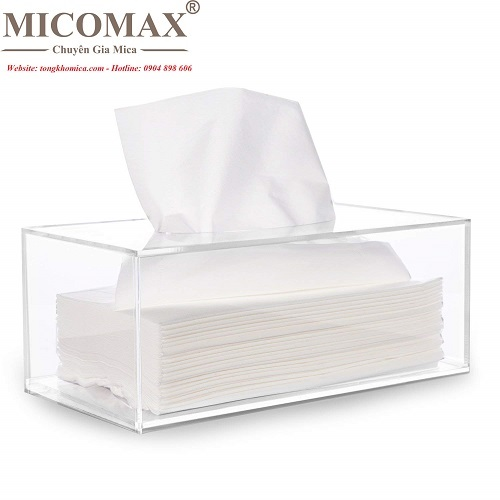 Hộp đựng khăn giấy mica