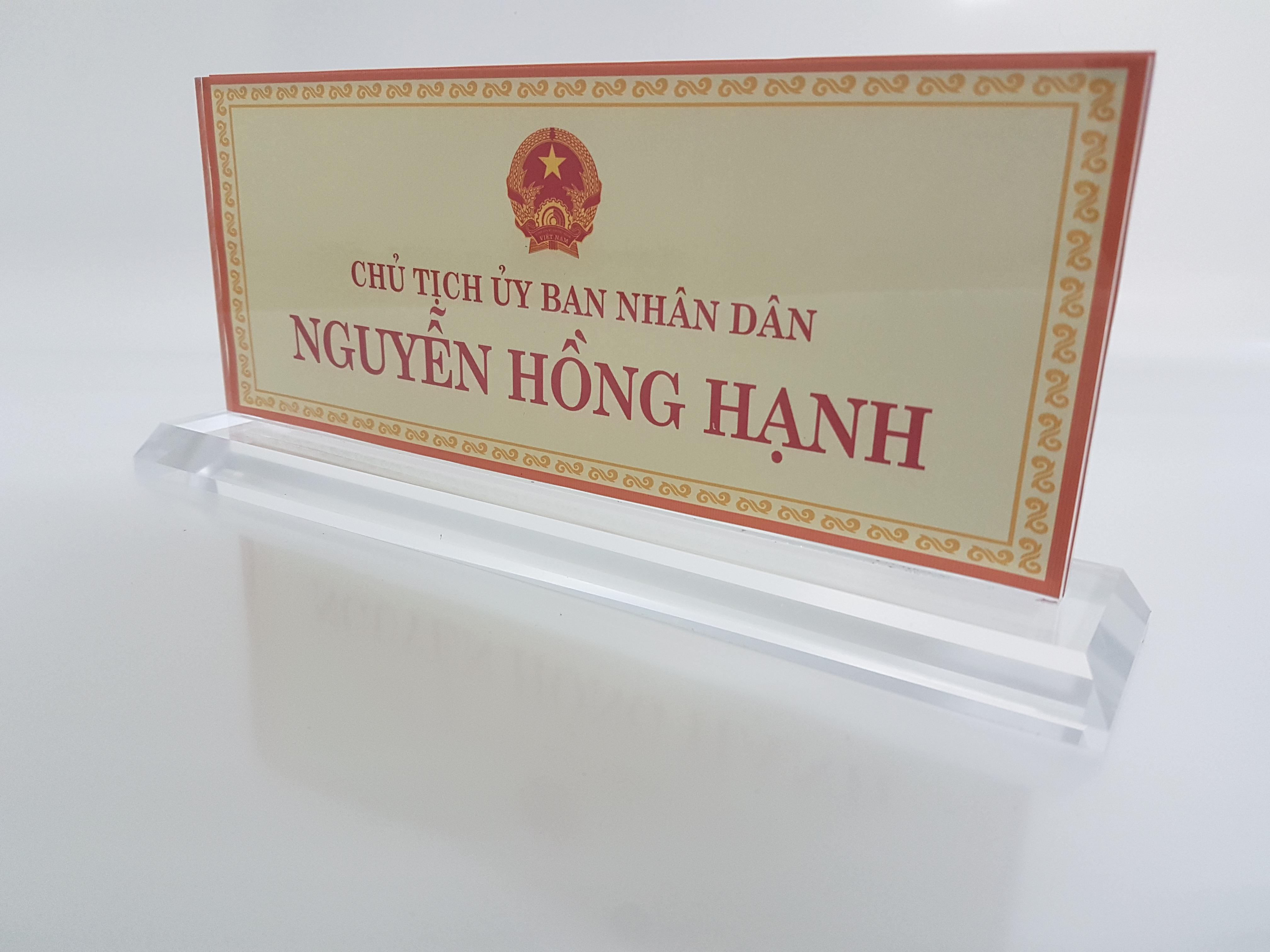 Biển Chức Danh. Địa chỉ bán Biển Chức Danh uy tín tại Hà Nội